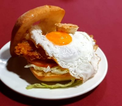 Hamburguesa de Pollo con Huevo